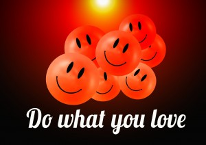 do what you love smilie-954980_1920