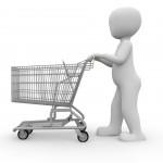 Geldsorgen beim Einkaufen