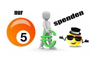 nur 5 Euro spenden